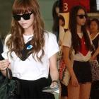 ジェシカ 空港|少女時代のジェシカ,infiniteのソンヨル,wondergirlsのソヒの空港ファッション!Comme de st**T-シャツ