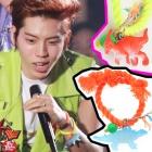 infinite 横浜アリーナコンサートでドンウが着用したスタイルの恐竜ブレスレット~ビビッドカラーの紐とカラーボール,かわいい恐竜が付いてる!!