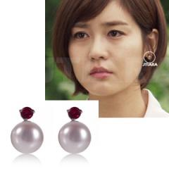 「神々の晩餐」ソンユリ着用☆協賛アクセサリ PINK Pearl Ball Earrings