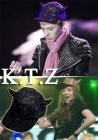 ktz韓国ファッション アイドルBIGBANGのG-DRAGON、F(X)、BEAST着用したKTZ角キャップKTZ★LMAE HAT HORNS