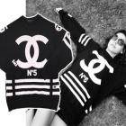 ストリートファッション通販|HOMME+FEMME L* st.シャネ*パロディーのCOCO No.5トレーナー