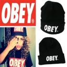 海外セレブファッション★OBEYスタイルニット帽★