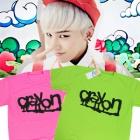 ★当日発送★ 【EMS送料無料=3営業日到着】BIGBANG クレヨン商品!! gドラゴン CRAYON 応援アイテム カラフルT-シャツ