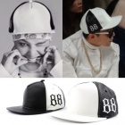 ★NEWver.再入荷完了★BIGBANG SOL私服・G DRAGON着用@レザー88Point Snapback@韓国キャップ通販(2color)