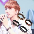VIXX Style★Leather pattern Bracelet★韓国ファッション通販★アイドル私服通販★