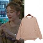 韓国ドラマ「未来の選択」人気女優ユン・ウネが着用したニットT(2color)[品切れ]