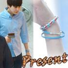 Super Juniorキュヒョンが着用したツイストカラーロープブレスレット(男女兼用)Twist Color Rope Bracelet