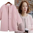韓国人気ドラマ『未来の選択』のヒロインユンウネ着用★未来のRound M Coat(2color)