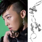 BIGBANG G-DRAGON・EXO着用風Hearts Cross ring Pierce(フェア)★韓国アイドル私服通販KIRANG KOREA