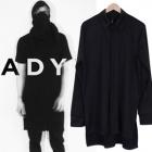 Luxury Street Fashion Brand ADYN風Jersey素材2colorワイシャツ*B系ファッション通販