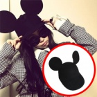 最新ストリートファッション通販2ne1 CL・ヘンリ着用ミッキの耳のキャップ(2color)