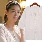 韓国人気ドラマ『星から来たあなた』のヒロインチョン・ジヒョン着用CHN風ラブリーブラウス(2色)[品切れ]