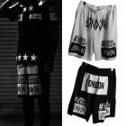 Black Street Fashion通販London Is Black風プリンティングポイントメッシュハーフパンツ(2color・男女兼用)