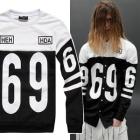 最新人気のストリートファッションブランドHBA風配色ポイント69トレーナー(2Color・男女兼用)