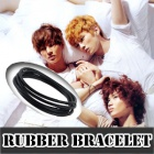 k-pop通販★アイドルスタイル☆EXO,SHINEE Rubber Ring Bracelet 3 Type☆アイドル愛用アイテム☆