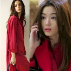韓国人気ドラマ『星から来たあなた』のヒロインチョン・ジヒョンが着用したViVi-Long Blouse[品切れ]