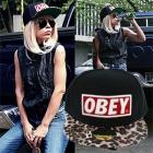 OBEY(オベイ)風ロゴPattern Design帽子(男女兼用)大人気のストリートファッション必需アイテム