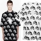《EMS送料無料=3営業日到着》海外人気ストリートファッション通販K*KON TO ZAI KTZ風Flag Point Printing半袖Tシャツ(2Color・男女兼用)
