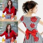 韓国女優ファッション・激安ワンピース通販 ソンユリ・イミンチョンが着用したRose Dayリボンポイントワンピース(3Size)[品切れ]