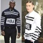 《EMS送料無料》人気ストリートファッションブランドHBA風Typo Striped printing Regular Shirt(2color)