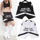 世界人気ストリートファッション!BABYLON SHALL FALLロゴショーツ(2COLOR・男女兼用)