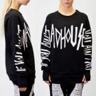 《EMS送料無料=3営業日到着》ストリートファッション通販|A.J.@  MADHOUSE STYLE BIG LOGO T-shirt(男女兼用)
