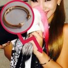 《EMS送料無料=3営業日到着》*2NE1のCL*スタイル!キラキラアイテム☆Cubic Gold ブレスレット