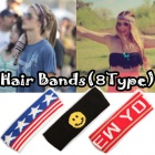 *ストリートファッション*人気アイテムコットン素材ポイントスウェートHair Bands(8種類)