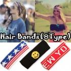 《EMS送料無料=3営業日到着》*ストリートファッション*人気アイテムコットン素材ポイントスウェートHair Bands(8種類)