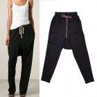 《EMS送料無料=3営業日到着》世界のファッションピープルに愛されるブランドRick O**st のBlack Striped Pants