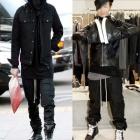《EMS送料無料=3営業日到着》*BIGBANGのG-DRAGON, ルームメイトで2ne1ボム着用,SOLファッション|RICK OW*NS st. コーティングバギーパンツ(男女兼用)