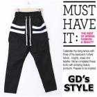 ストリートファッション通販|GD愛用ブランドRICK OW*NS st. ラインスウェットパンツ(男女兼用)