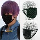 TEEN TOP(ティーントップ)ニエル空港ファッションスタイル!BLACK MASK (2TYPE)ブラックマスク/黒マスク