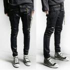 ストリートファッション通販|Rick Ow*ns st. 三つのベルトラインポイントのバージュラコーティングスキニージーンズ