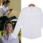 《EMS送料無料=3営業日到着》韓国人気女優チェ·ジウがドラマの【誘惑】で着用したTassel White ブラウス
