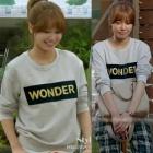 《EMS送料無料=3営業日到着》少女時代スヨンが韓国ドラマ【私の生涯の春の日】で着用したスタイル!SAND**STYLE WONDER LOGO T-SHIRTS