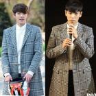 《EMS送料無料=3営業日到着》BIGBABG TOP、キム・ウビン、イ・スヒョク、ゴンユなどの韓国人気俳優たちに大ブレイク中!AM*.STYLE グレンチェックチェックコート
