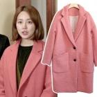 韓国人気ドラマ『未来の選択』でユン·ウネが着て話題になったLuck* s. style オーバーフィットピンク コート