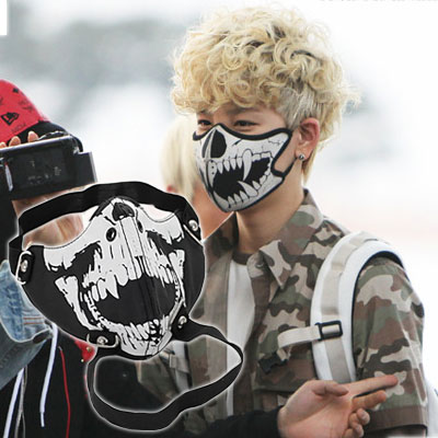 BIGBANG,BEAST,INFINITE,B.A.P・・・韓国アイドルファッションアイテム☆UNIQUE CHIC FASHION MASK/ファッションマスク