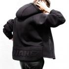 ★女性用少量入荷★最新人気ストリートファッション|ネオフランBACK POINT 3D タイポ ジップアップフーディー