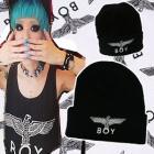 人気帽子★BOY LONDON st.Eagle Boyプリンティングニット帽