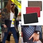 KARAアイテム|韓国アイドルKARAのハラ空港ファッションアイテムCha*** st.シンプルキルティングクラッチバッグ(3color)