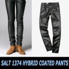 高クオリティー流行アイテム|ファッショにスターならゲットすべし☆!レザー風のSALT1374 HYBRID COATED PANTS