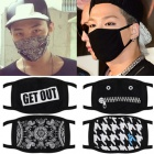 韓国アイドルたちに愛される必需ファッションアイテム☆Unique fashion black mask(12type)