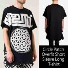 《EMS送料無料=3営業日到着》サークルパッチオーバーフィットロング半袖Tシャツ/Circle Patch Overfit Short Sleeve Long T-shirt
