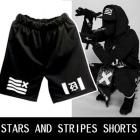 *帝国の国旗を連想させるロゴマークが素敵なポイント!Stars and Stripes Pattern Shorts Pants