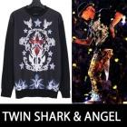 ユニークなシャークとエンジェルコラージュ!G.V st. TWIN SHARK & ANGELL T-SHIRTS