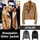 韓国番組UV BeginsでBIGBANGのテヤン(SOL)が着用Luxury style!ラムスキンライダースジャケット/LUXURY STYLE(男・女サイズ各4サイズ/3COLOR)