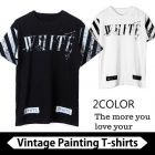 @FF WHITE st.ヴィンテージペイント半袖Tシャツ/Vintage Painting  short sleeve T-shirt