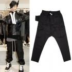 ★NEW VER.★BIGBANG G-Dragon愛用ブランド! Rick O** style Cotton Black Memphis Pant-ファスナー付き